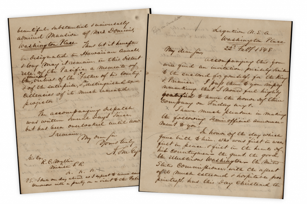 Documents Naming Washington Place